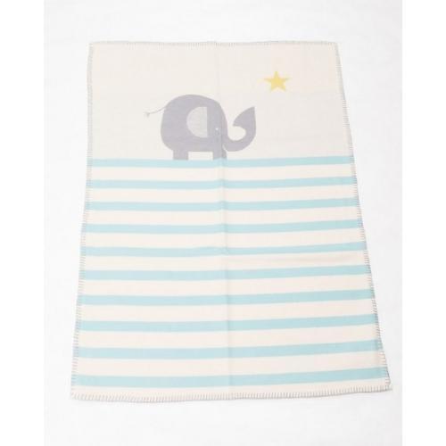 Бебешко одеяло от органичен памук Lena - Слонче